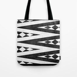 Tribal pattern in black and white. Tote Bag