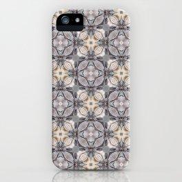 Light Soft Color Square Pattern Mandala Design iPhone Case