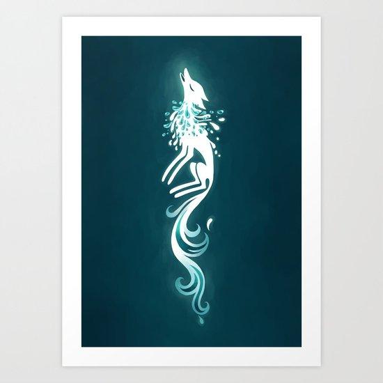 Light Fox Art Print