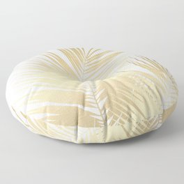 Gold Palm Leaves Dream - Cali Summer Vibes #1 #tropical #decor #art #society6 Floor Pillow