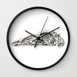 Coelophysis skull Wall Clock
