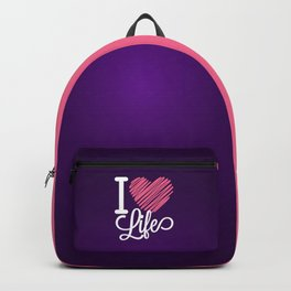 I Love Life Quote Backpack