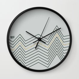 Christmas Abstract #minimal #christmas #design #kirovair #decor #buyart Wall Clock