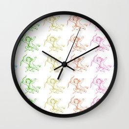 ROCCOC POP ART PATTERN CHERUB Wall Clock