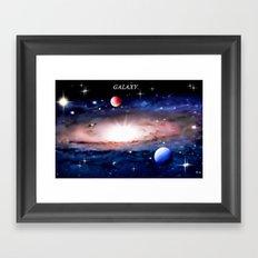 GALAXY. Framed Art Print