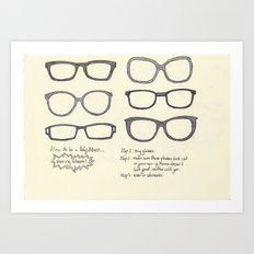 Hipsters Wear Frames, illustrated Art Print