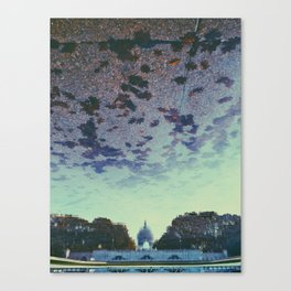 Reflecting On the Capital Canvas Print
