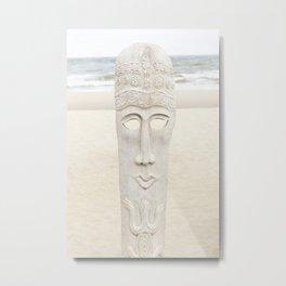 Beach Sculpture Metal Print