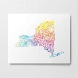 Typographic New York in Springtime Metal Print