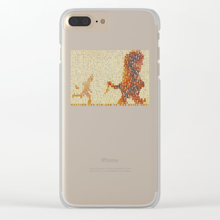 I'll Eat You Up Clear iPhone Case