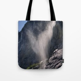 The Ghost. Lauterbrunnen Waterfalls. Alps. Switzerland Tote Bag