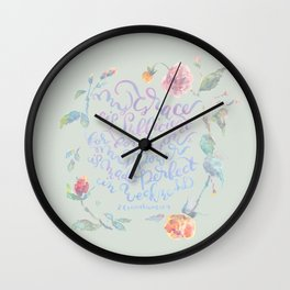 My Grace is Sufficient - 2 Corinthians 12:9 / sage Wall Clock