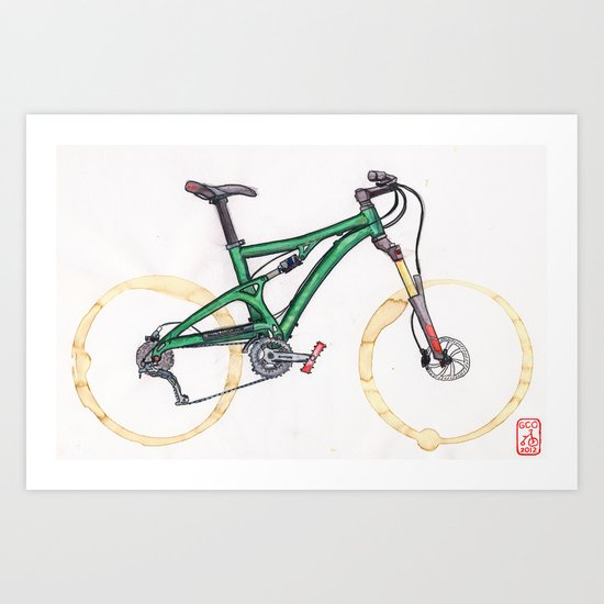 Coffee Wheels #10 Art Print