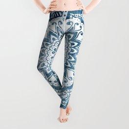 BLUE JEWEL MANDALA Leggings