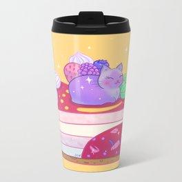 Berry Kitty Cake Metal Travel Mug