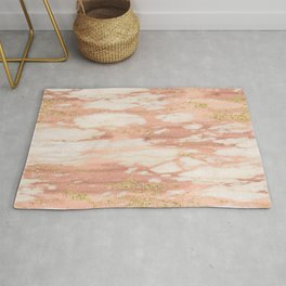 Sorano rose gold marble Rug