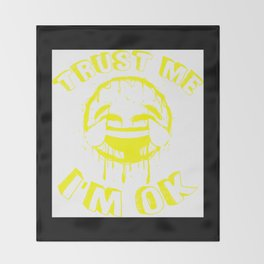 I'm OK (YELLOW) Throw Blanket