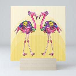 Flamingo Friends Mini Art Print