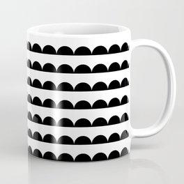 Scallop - Black and white minimal design print hipster urban city brooklyn socal san francisco bay p Coffee Mug