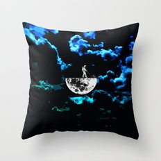 month in the split Throw Pillow