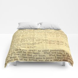 Jane Eyre, Mr. Rochester First Marriage Proposal by Charlotte Bronte Comforters