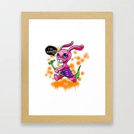 rabbit monster Framed Art Print