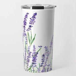 lavender watercolor horizontal Travel Mug
