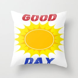 summer t-shirt good day Throw Pillow