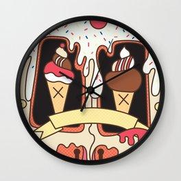 Junkies - Ice cream van melting problems Wall Clock