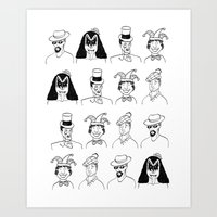 Little men Art Print