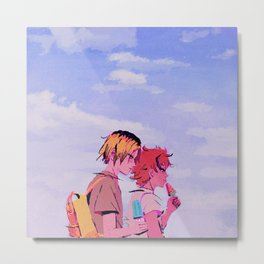 Kenma & Hinata - Summer feelings Metal Print