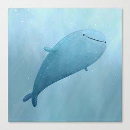 Cute Whale Shark Canvas Print