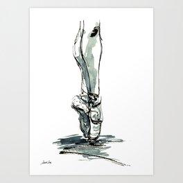 Ballet Dancer On Pointe Shoes 3 Art Print