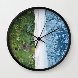 Tropical Colours Layers | Aerial Fine Art Photo Wall Clock