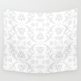 Thistles on White Wall Tapestry