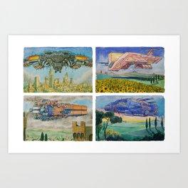 Battle Cruisers of Tuscany, quad 3 Art Print