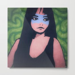 Lady of the Blue Tribe Metal Print
