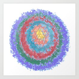 Be Like Water Sri Yantra Art Print