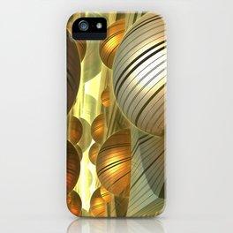 Golden Globes / /  #fractal #fractals #3d iPhone Case