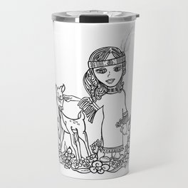 Little Feather By riendo Travel Mug
