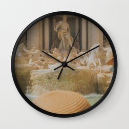 trevi in the sun Wall Clock