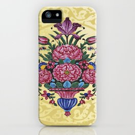 Floral Persian Tile (yellow) iPhone Case