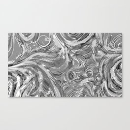 Grey in Currents  Canvas Print