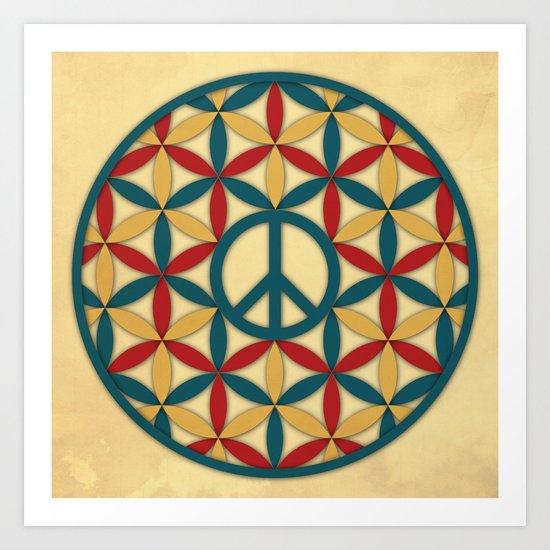 Peace Geometric Circles Art Print
