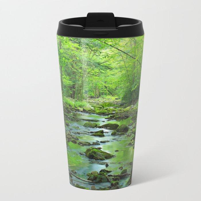 Rocky Forest Creek Metal Travel Mug