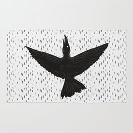 The ink crow Rug