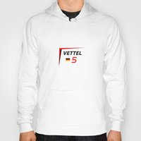 f1 Hoodies featuring F1 2015 - #5 Vettel [v2] by MS80 Design