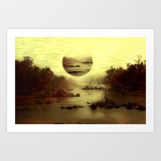 Illusive visions float above my head... Art Print