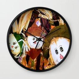 Scarecrow Selfie Wall Clock