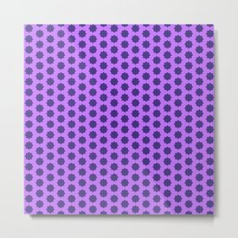 Modern pattern purple pink Metal Print